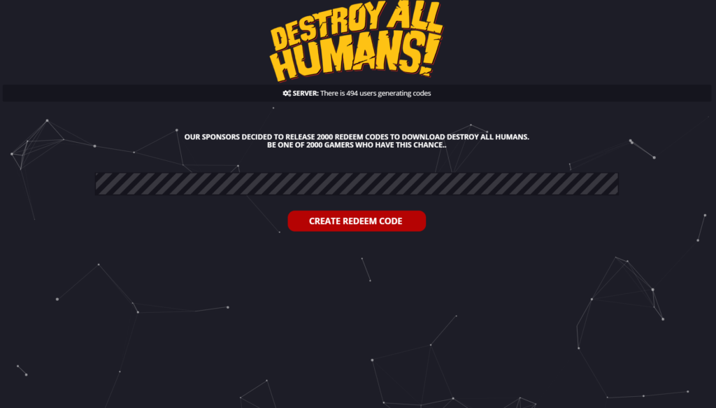 Destroy All Humans Redeem Code