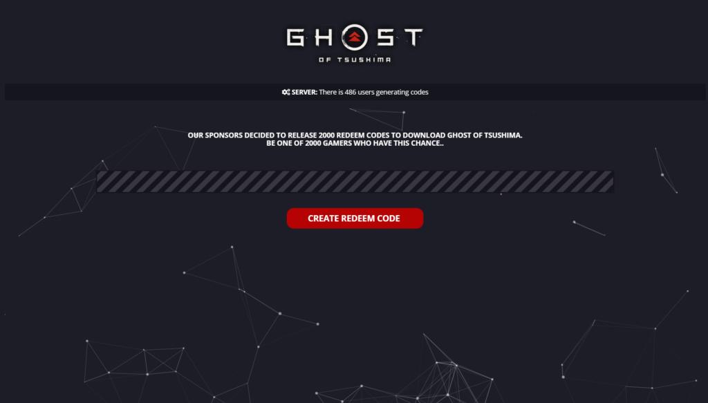 Ghost of Tsushima Redeem Code