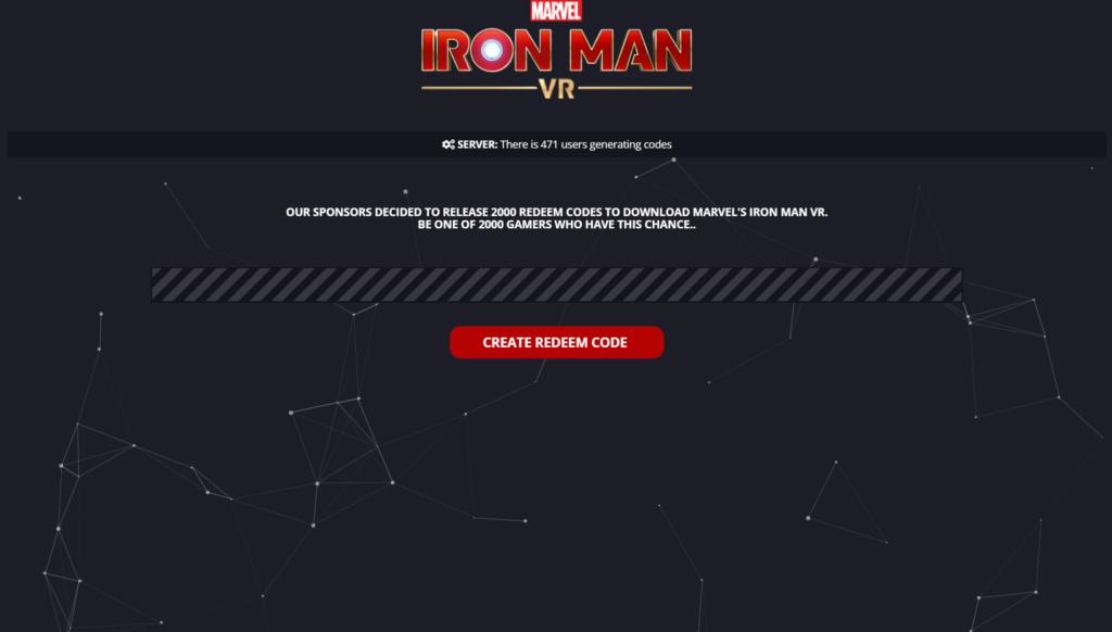 Marvel's Iron Man VR Redeem Code