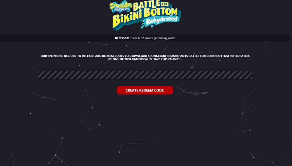 Spongebob Squarepants Battle for Bikini Bottom Rehydrated Redeem Code